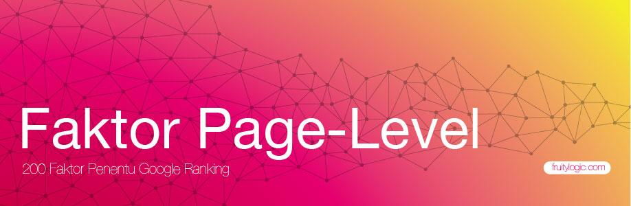 Faktor Penentu Google Ranking Faktor Page Level