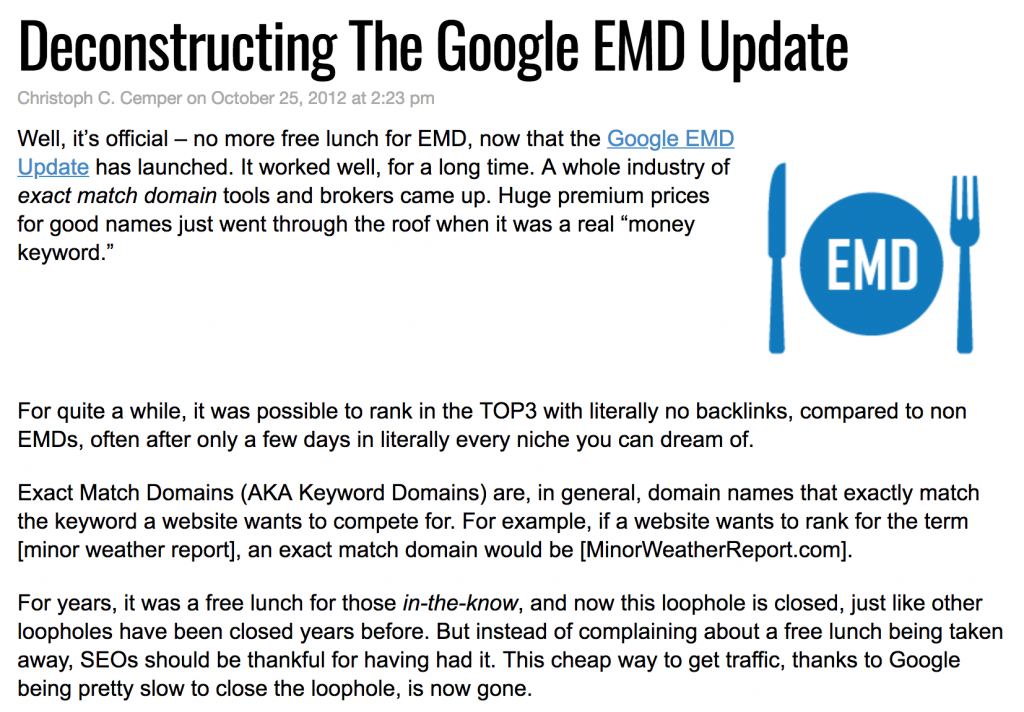 google-exact-match-domain-name-update