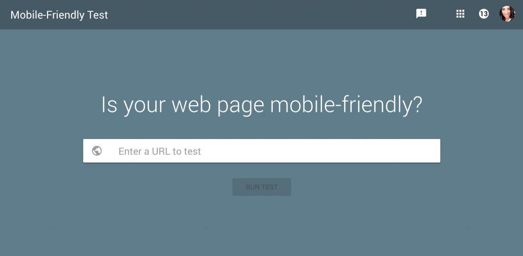 Google Mobile Responsive Test