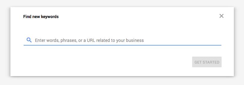 Find New Keywords Google Keyword Planner