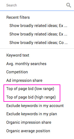 Top-of-Page-Bid-Keyword-Results-Page