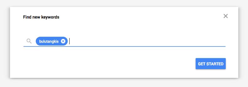 Google Keyword Planner contoh keyword badminton