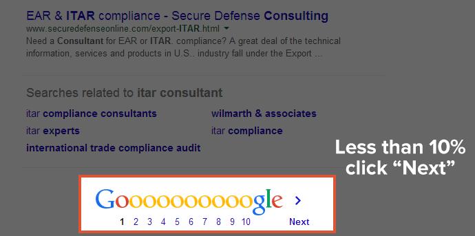 halaman pertama google kedua
