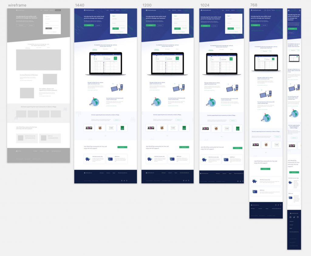 on-page-responsive-web