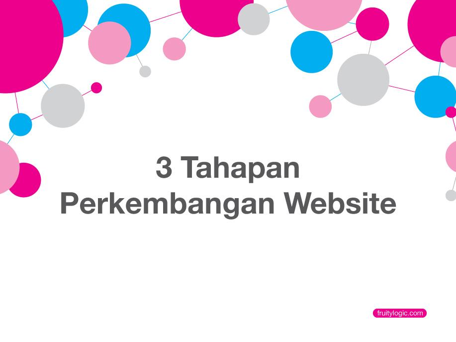 3 Tahap Perkembangan Website