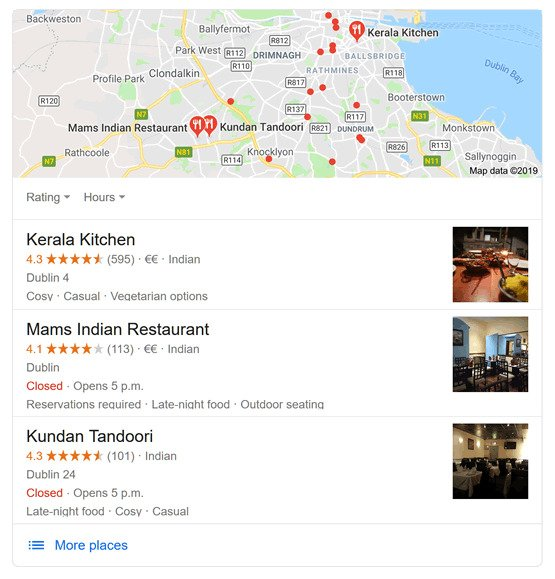 contoh google local pack