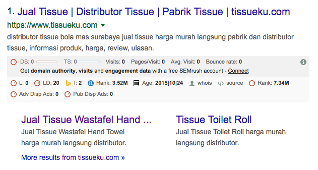 masa depan seo google site links