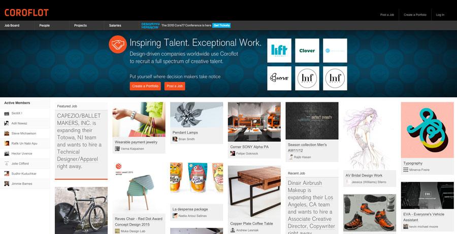 Web portfolio Corofot