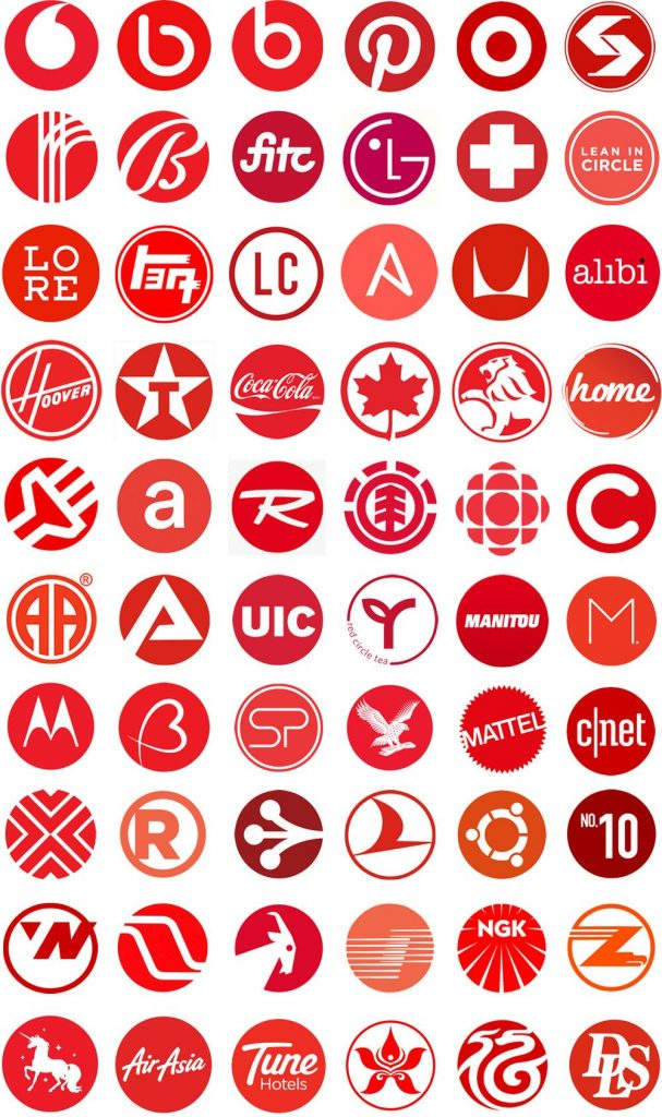 Logo dengan model lingkaran merah