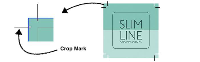 terminologi desain grafis garis potong