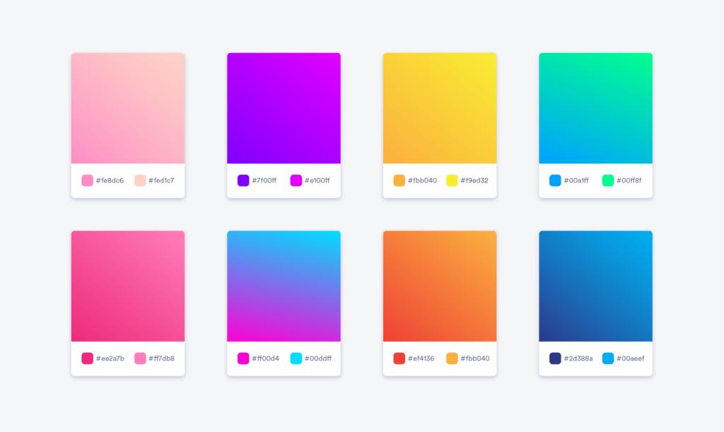 terminologi desain grafis gradien warna