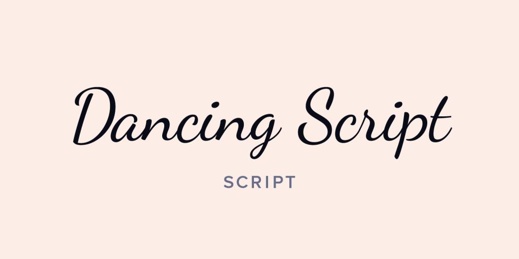 contoh jenis huruf script