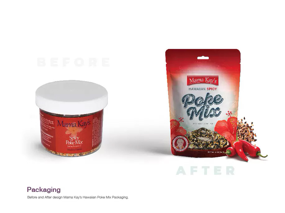 packaging redesign before after poke mix hawaiian
