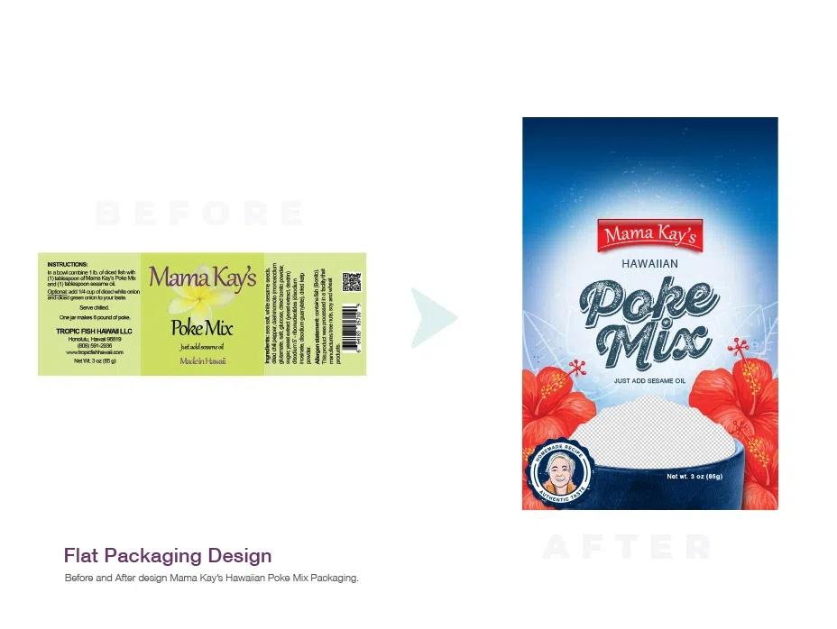 poke mix hawaiian packaging redesign