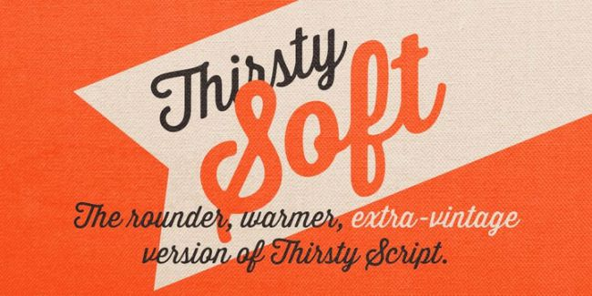 font thirsty soft